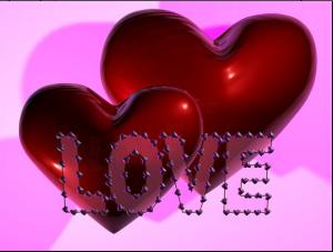 Два сердца с надпиью